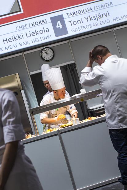 Semifinaalissa Mikko Liekola ja Toni Yksjärvi kilpailivat tiiminä. Jotain maukasta -blogin Mari istui Pernod Richardin pöydän vieraana, bloggasi ja kuvasi.
